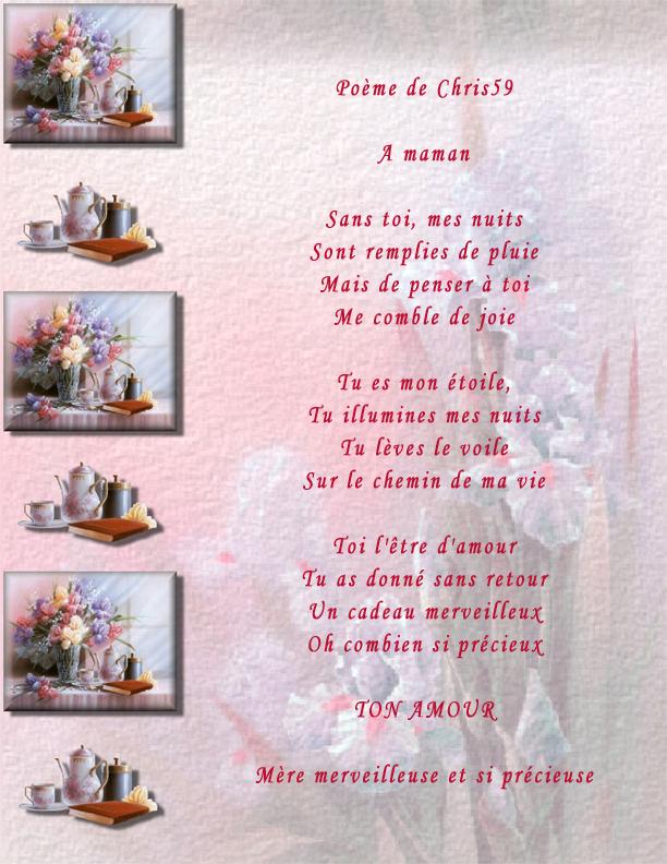 poeme anniversaire de deces maman